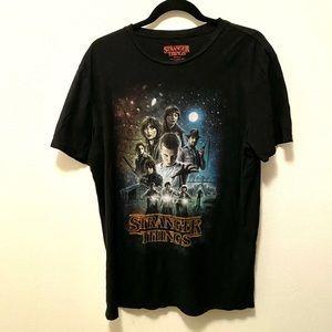 Stranger Things Tee Shirt Black XL